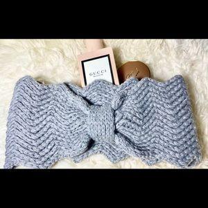 Cute Warm Gray Bow Shape Headband Feminine Style